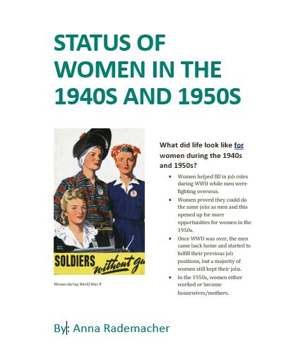 Poster created by Anna Rademacher